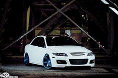 Sick mazdaspeed 6 with blue wheels