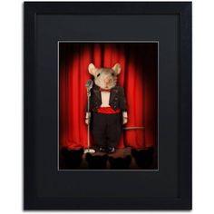 Trademark Fine Art \'Mice Series #1.5\' Canvas Art by J Hovenstine Studios, Black Matte, Black Frame, Size: 16 x 20, Multicolor