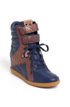 "Women's Reebok Ak Alicia Keys Hidden 2"" Secret Wedge Hi Top Fashion Sneaker Double Velcro Strap in Leather Deep Baltic Blue and Pure Copper (7) Reebok,http://www.amazon.com/dp/B00EZZB8Y8/ref=cm_sw_r_pi_dp_c46-sb0VF3Q1JSKM"