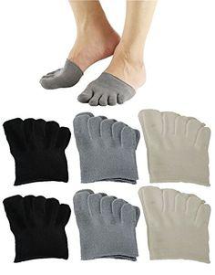 Camping Hiking : Men's Clothing :6Pack Mens Five Toe Separating Heelless Half Socks/Toe Inner Socks Medium 6Pair * Insider's special review you can't miss. Read more