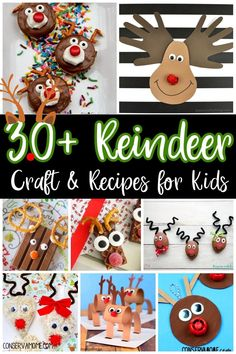 Reindeers are such a fun part of Christmas. There are so many fun ways to celebrate these fun animals that help Santa spread cheer on Christmas Eve. Check out these 30+ Reindeer Craft & Recipes for kids that are perfect fun for an afternoon of crafting and Christmas cheer. #reindeercrafts #reindeerfun