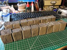 HESCO barriers, materials on the page before. Game Terrain, 40k Terrain, Wargaming Terrain, Warhammer Paint, Warhammer 40000, Warhammer Terrain, Military Modelling, Military Diorama, Fortification