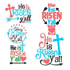He is Risen Yall Easter Cuttable Designs SVG DXF by CuttableSVG