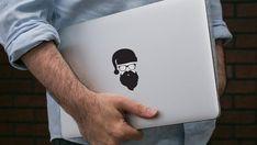 Sticker Macbook Pro di MacBook Decal vinile adesivo copertura copertura Hipster barba pelle vinile portatile Decal Asus Thinkpad Dell Apple Logo Toshiba
