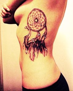 peace love dream catchers....where can I put this???? Thigh or back!!??