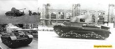 Turán harckocsi nagyobb löveggel kisérleti célra megépített fa szerkezetű toronnyal. Defence Force, Luftwaffe, Armored Vehicles, Hungary, Military Vehicles, Wwii, Army, Tanks, Military Photos