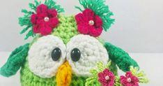 CLASES DE TEJIDO. Free Crochet, Crochet Necklace, Knitted Slippers, Owl Bird, Tricot, Craft, Tutorial Crochet, Knitted Animals, Tutorials