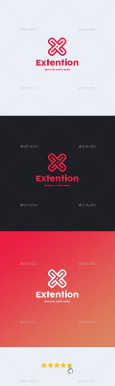 Extention • Letter X Logo Template  #software #store #x • Available here → http://graphicriver.net/item/extention-letter-x-logo-template/15799494?ref=pxcr