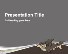 Shark PowerPoint template is a funny but scary template for Power Point presentations with a shark illustration in the slide design