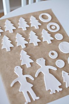 Christmas ornaments - made from air dry clay