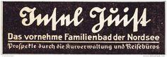 Original-Werbung/ Anzeige 1937 - FAMILIENBAD JUIST - ca. 90 x 30 mm