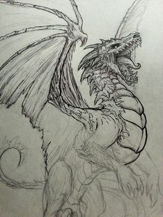 Undead Dragon Sketch by CrystalSully on DeviantArt
