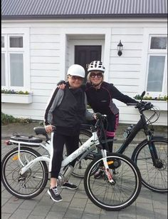 Maree and Nicki out for a ride.
