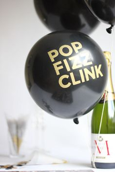 Pop Fizz Clink Balloons - need these for drink table! why must you be sold out.