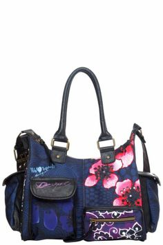 Desigual Women's London Flores David bag. Our classic London-style bag with a thousand and one pockets. Zip fastening.