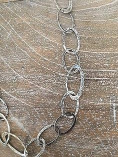 Silpada-925-Sterling-Silver-Hammered-Oval-Link-Necklace-N1667-RETIRED