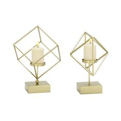 Found it at AllModern - 2 Piece Metal Candlestick Set  create a DIY for these