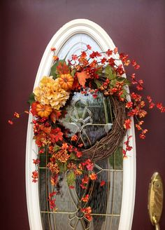 Fall Autumn Thanksgiving Grapevine Door by AnExtraordinaryGift, $70.00