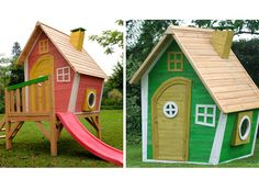 Yardgames Crooked Play Houses. Love these.