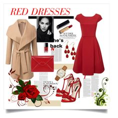 """red"" by emira-besirovic ❤ liked on Polyvore featuring INC International Concepts, Chanel, Lulu Guinness, Michael Kors, women's clothing, women, female, woman, misses and juniors"