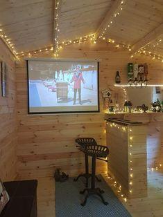 Customer story: Craig's log cabin Home Bar Rooms, Home Bar Areas, Diy Home Bar, Home Pub, Bars For Home, Garden Bar Shed, Summer House Garden, Summer House Interiors, Man Cave Garage