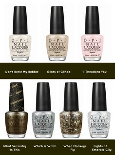 OPI Oz the Great and Powerful Collection - have glinda and which witch want all the others Nail Polish Sets, Opi Nail Polish, Hot Nails, Hair And Nails, Korean Eye Makeup, Asian Makeup, Opi Colors, Girly Things, Girly Stuff