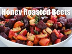 Honey Roasted Beets, Carrots and Parsnips | Sheet Pan Side Dish - YouTube Roasted Carrots And Parsnips, Grilled Carrots, Honey Roasted Carrots, Roasted Root Vegetables, Veggies, Carrot And Parsnip Recipe, Parsnip Recipes, Beet Recipes, Dog Food Recipes