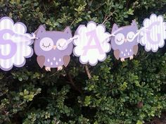Owl Baby Shower Banner