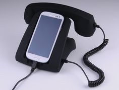 Animewild Talk Dock Mobile Device Handset and Charging Cradle Black Iphone 4s, Iphone Stand, Apple Iphone, Online Gift Store, Retro Phone, Home Phone, Car Gadgets, Gadget Gifts, Geek Gifts