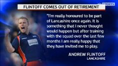 Andrew Flintoff has confirmed he is coming out of retirement to play for Lancashire in the NatWest T20 Blast this season. #cricket #sports