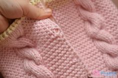 Комбинезон с косами » Вязание спицами и крючком Baby Cocoon, Baby Knitting, Knitting Patterns, Knit Crochet, Marie, Pullover, Kids, Fashion, Knitted Baby Clothes