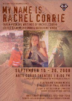 Theatre:  My Name is Rachel Corrie.  Editor/director
