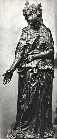 Santa Giustina AutoreDonatello Data1446-1453 Materialebronzo UbicazioneBasilica di Sant'Antonio, Padova