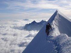 \\ mountain climbing