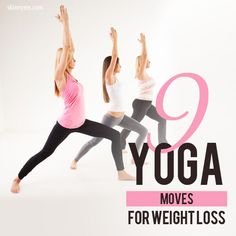 Yoga is excellent for relaxation AND weight loss! Check out 9 Yoga Moves for Weight Loss (video tutorials included). #yoga #weightloss