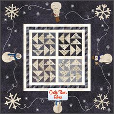 Items similar to Winter-ific Quilt Kit with Fabrics and Pattern From Snowmen Gatherings II by Primitive Gatherings for Moda Size x on Etsy Wool Applique Patterns, Quilt Patterns, Quilting Ideas, Primitive Gatherings, Winter Quilts, Quilts For Sale, Small Quilts, Mini Quilts, Quilted Wall Hangings