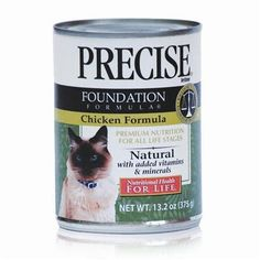 Precise Precise Feline Foundation Chicken Canned Cat Food Precise Feline Foundation Chic Canned Food >>> You can get additional details at the image link.