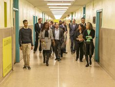 A tour with the Principal of August Martin High School to see the revitalization due to Eight O'Clock Coffee's funding of Publicolor's Next Steps program. #CoffeeFuelsChange