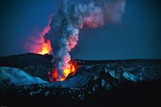 Volcano eruption in Fimmvörðuháls Iceland (byDE-VE)