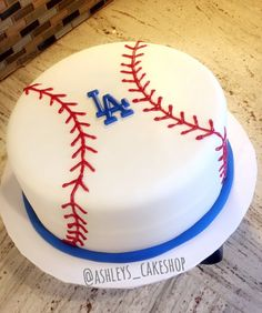 Los Angeles Dodgers Cake  IG:ashleys_cakeshop