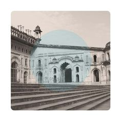 $145 Limited edition Giclee art print.  61 x 61cm (unframed) CRANE MUSEO PORTFOLIO RAG (Matt) 300gsm   IMAGE: Architecture of the Central Hall of Bara Imambara in Lucknow, Uttar Pradesh, India.