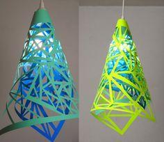 我們看到了。我們是生活@家。: Meg Allan Cole創造了一個現代的幾何版燈罩