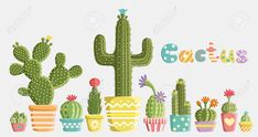 Cactus Doodle Stock Vector Illustration And Royalty Free Cactus Doodle Clipart Cactus Doodle, Cactus Y Suculentas, Posca, Flower Images, Stock Foto, Cacti And Succulents, Different Shapes, Trees To Plant, Painted Rocks