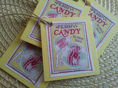 Vintage Penny Candy Tag on My Etsy