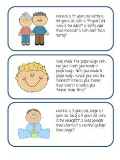 Superlatives and Comparatives Flash Cards