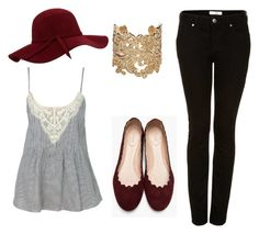 """""""Sin título #245"""" by margarita-gilbon ❤ liked on Polyvore featuring Topshop, Chloé and Bonnie Star"""