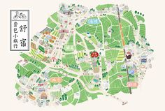 ackpacker Inn Visual Design on Behance Zoo Map, Village Map, Dm Poster, Map Projects, Design Projects, Map Painting, Up Book, Print Layout, Map Design