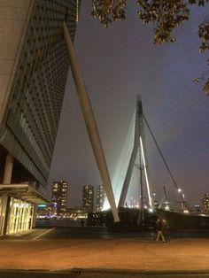 Rotterdam in The Netherlands Erasmusbrug