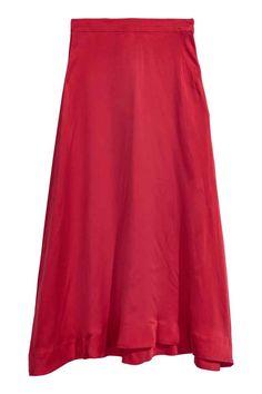 Silkkisekoitehame - Tummanpunainen - NAISET | H&M FI