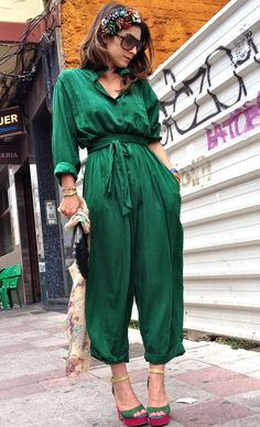 Marc By Marc Jacobs  Jumpsuits, sandra palomar  Jewelry and JULIO FERNANDEZ  Scarves, Spring